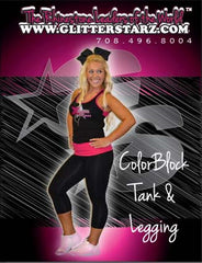Everyday Essential Razor Tank and Leggings Set Featuring Xtreme Tumble and Cheer Logo in Rhinestones