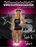 Everyday Essentials Practicewear Tank and Short Set Featuring Buffalo Envy Logos in Rhinestones