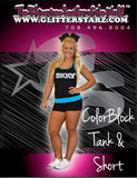 Everyday Essentials Practicewear Tank and Short Set Featuring Skky Allstars Logos in Rhinestones