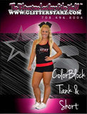 Everyday Essentials Practicewear Tank and Short Set Featuring PA Heat All-Stars Logos in Rhinestones