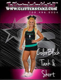 Everyday Essential Tank and Short Set Featuring Adirondack Dance Company Logo in Rhinestones