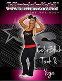 Everyday Essentials Practicewear Tank and Foldover Yoga Set Featuring PA Heat All-Stars Logo in Rhinestones