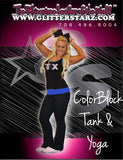Everyday Essentials Practicewear Tank and Foldover Yoga Set Featuring Texas Thunder Logo in Rhinestones