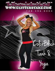 Everyday Essentials Practicewear Tank and Foldover Yoga Set Featuring Matrix Allstars Logo in Rhinestones