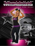 Everyday Essentials Tank and Foldover Yoga Set Featuring Epic Allstars Logo in Rhinestones