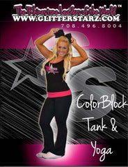 Everyday Essential Tank and Foldover Yoga Set Featuring Xtreme Tumble and Cheer Logo in Rhinestones
