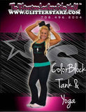 Everyday Essential Tank and Foldover Yoga Set Featuring Adirondack Dance Company Logo in Rhinestones