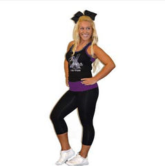 Everyday Essentials Practicewear Razor Tank and Leggings Set Featuring Cheer Matrix Logo in Rhinestones