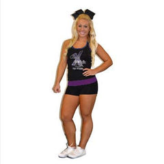 Everyday Essentials Practicewear Tank and Short Set Featuring Cheer Matrix Logos in Rhinestones