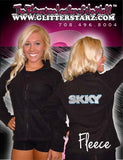 Fleece Jacket Featuring Skky Allstars Rhinestone Logo on Back