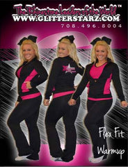 Flex Fit Warmup Set Featuring Rhinestone Xtreme Tumble and Cheer Logo