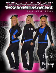 Flex Fit Warmup Jacket Featuring Rhinestone Texas Thunder Logo