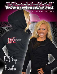 Fitted Zip Up Hoodie Featuring Matrix Allstars Logo on Back