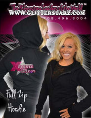 Fitted Zip Up Hoodie Featuring Xtreme Tumble and Cheer Logo on Back