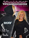 Fitted Zip Up Hoodie Featuring Skky Allstars Logo on Back
