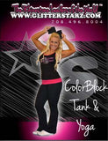 Everyday Essentials Tank and Foldover Yoga Set Featuring GlitterStarz Logo in Rhinestones