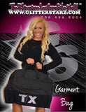 Bling Garment Bag Featuring Texas Thunder Rhinestone Logo