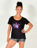 High Low Tee featuring Rhinestone ACC Logo