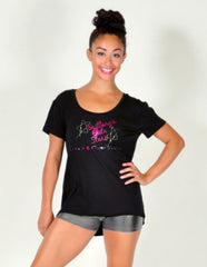 High Low Tee Featuring Brittany's Elite Stars Rhinestone Logo