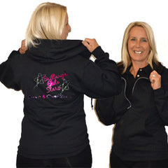Jerzees Relaxed Fit Hoodie Featuring Brittany's Elite Stars Rhinestone Logo