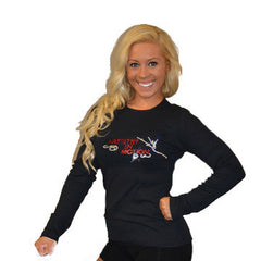 Long Sleeve T-Shirt Featuring Artistry In Motion Logo in Rhinestones