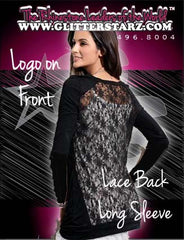 Lace Back Long Sleeve Featuring Epic Allstars Rhinestone Logo