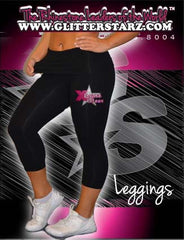 Leggings Featuring Xtreme Tumble and Cheer Rhinestone Logo