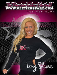 Long Sleeve T-Shirt Featuring Matrix Allstars Logo in Rhinestones