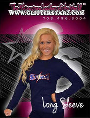 Long Sleeve T-Shirt Featuring South Jersey Storm  Logo in Rhinestones
