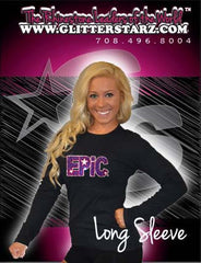 Long Sleeve T-Shirt Featuring Epic Allstars Logo in Rhinestones