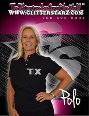 Polo Featuring Rhinestone Texas Thunder Logo