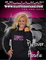 Pullover Style Hoodie Featuring Rhinestone Epic Allstars Logo