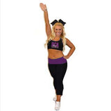 Everyday Essentials Practicewear Sports Bra and Capri Set Featuring River City Allstars Logo in Rhinestones