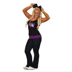 Everyday Essentials Practicewear Tank and Foldover Yoga Set Featuring ACC Logo in Rhinestones