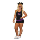 Everyday Essentials Practicewear Tank and Short Set Featuring River City Allstars Logo in Rhinestones