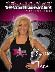 Razor Tank Featuring Rhinestone Xtreme Tumble and Cheer Logo