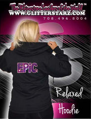 Jerzees Relaxed Fit Hoodie Featuring Epic Allstars Rhinestone Logo