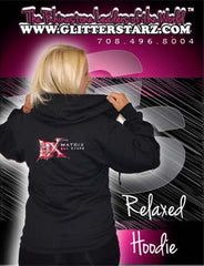 Jerzees Relaxed Fit Hoodie Featuring Matrix Allstars Rhinestone Logo