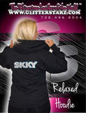 Jerzees Relaxed Fit Hoodie Featuring Skky Allstars Rhinestone Logo