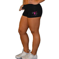 Rollover Shorts Featuring Brittany's Elite Stars Rhinestone Logo