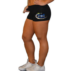 Rollover Shorts Featuring Blue Storm Athletics Rhinestone Logo