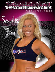 Sports Bra featuring Rhinestone South Jersey Storm  Logo