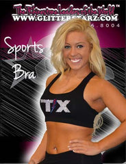 Sports Bra featuring Rhinestone Texas Thunder Logo