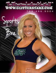 Sports Bra featuring Rhinestone Buffalo Envy Logo