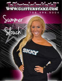 Off the Shoulder Summer Slouchy Featuring Skky Allstars Rhinestone Logo