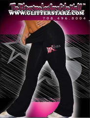 Foldover Yoga Pants Featuring Matrix Allstars Rhinestone Logo