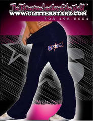 Foldover Yoga Pants Featuring South Jersey Storm  Rhinestone Logo
