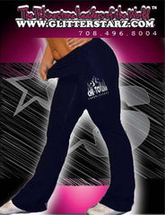 Foldover Yoga Pants Featuring Chi-Town Cheerleading Rhinestone Logo