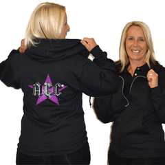 Jerzees Relaxed Fit Hoodie Featuring ACC Rhinestone Logo
