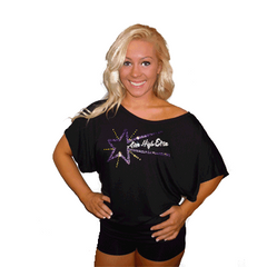 Flowy Dolman Style Shirt Featuring Aim High Elite Rhinestone Logo